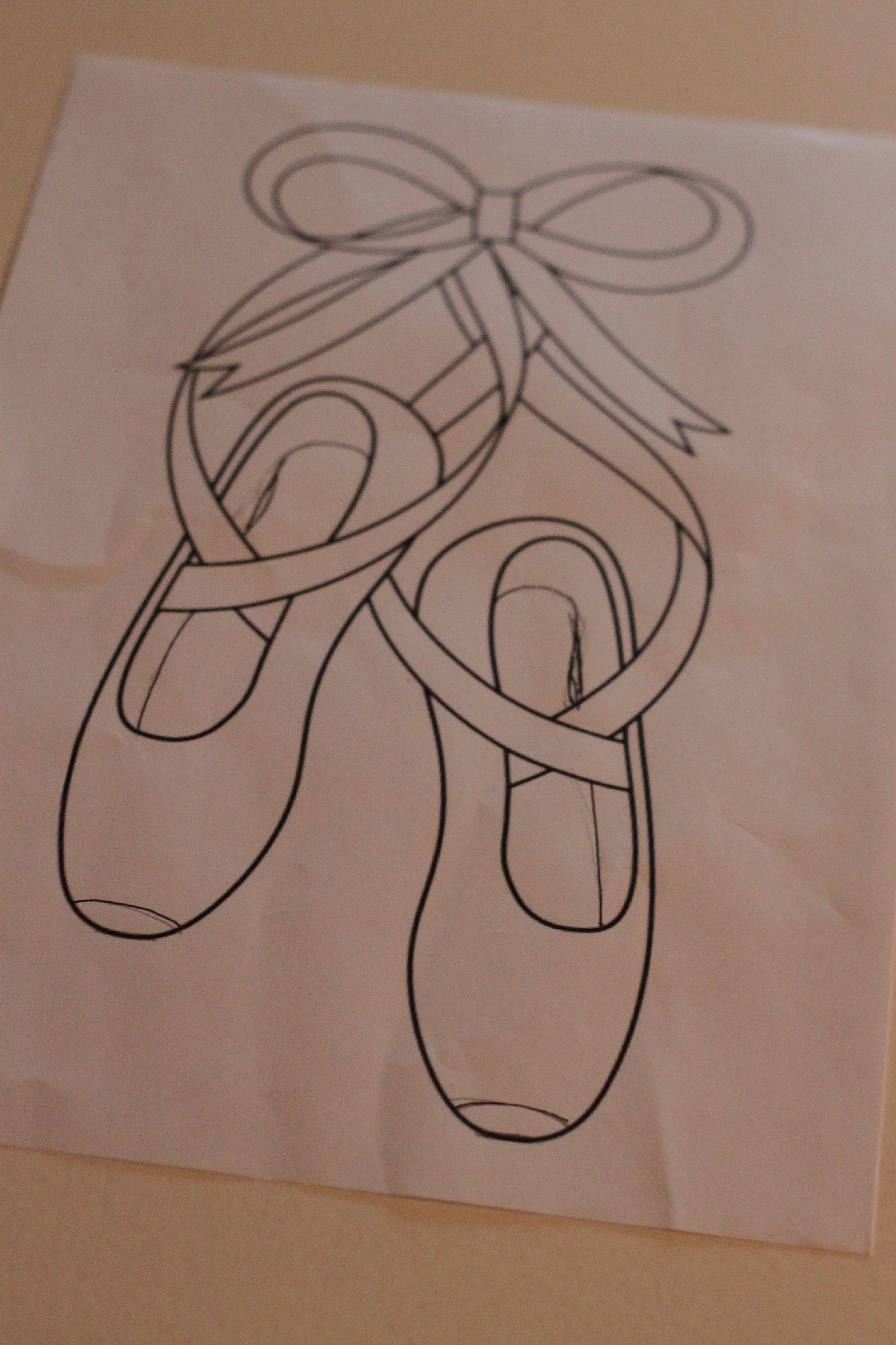 ballerina shoes template