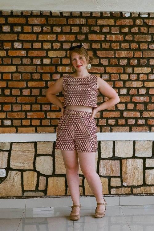 Siobhan's waxprint Tap Shorts